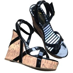 SEXY NEW Patent Leather Wedge Sandals
